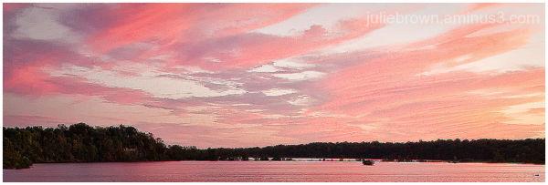 sunset over eagle creek reservoir indianapolis