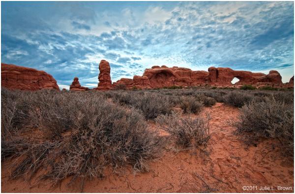 windows panorama arches national park utah