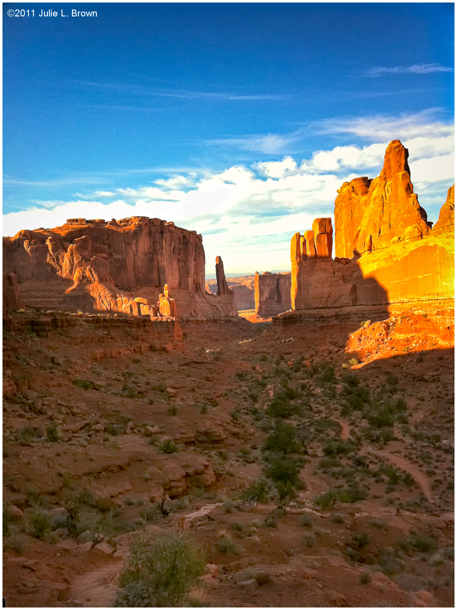 park avenue iphone arches national park utah