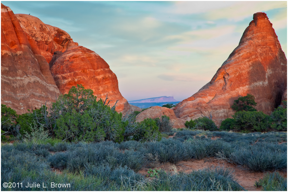 looking east from arches national park