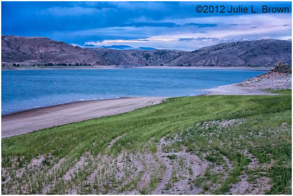 blue mesa reservoir after sunset colorado