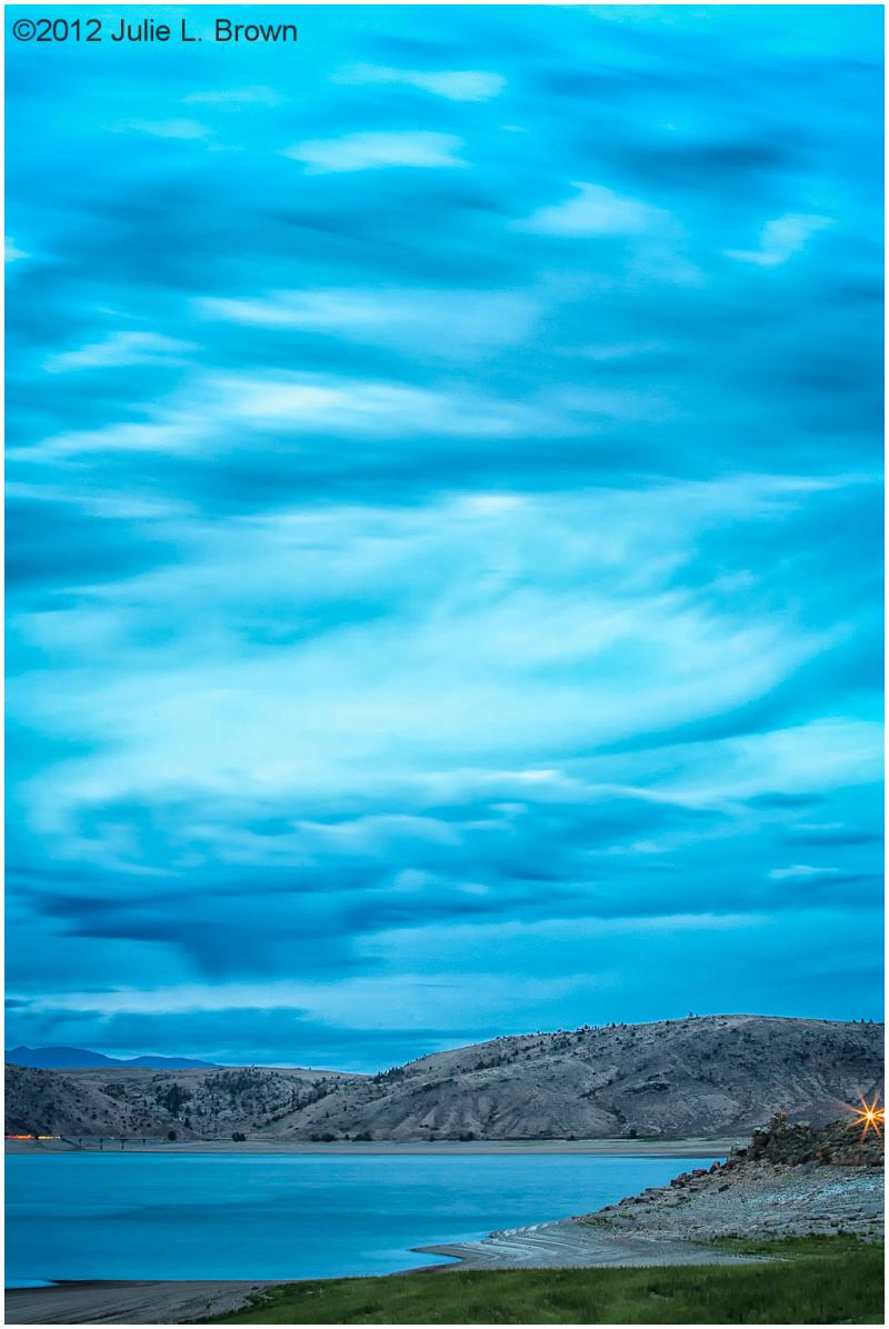 blue mesa reservoir after sunset gunnison colorado