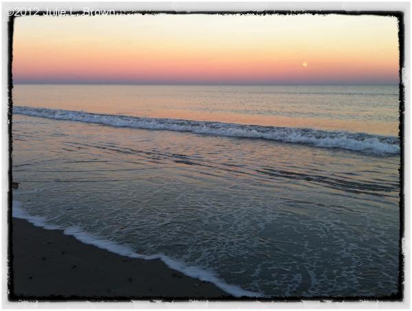 iphone sunset moonrise fernandina beach florida