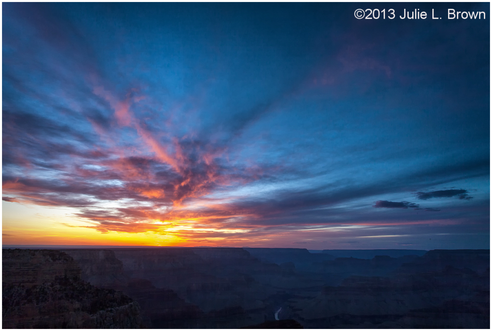 grand canyon sunset hopi point