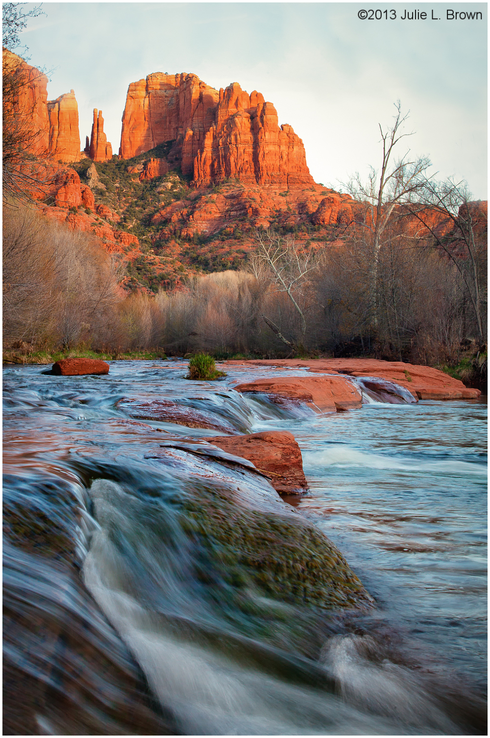 evening light on cathedral rock sedona