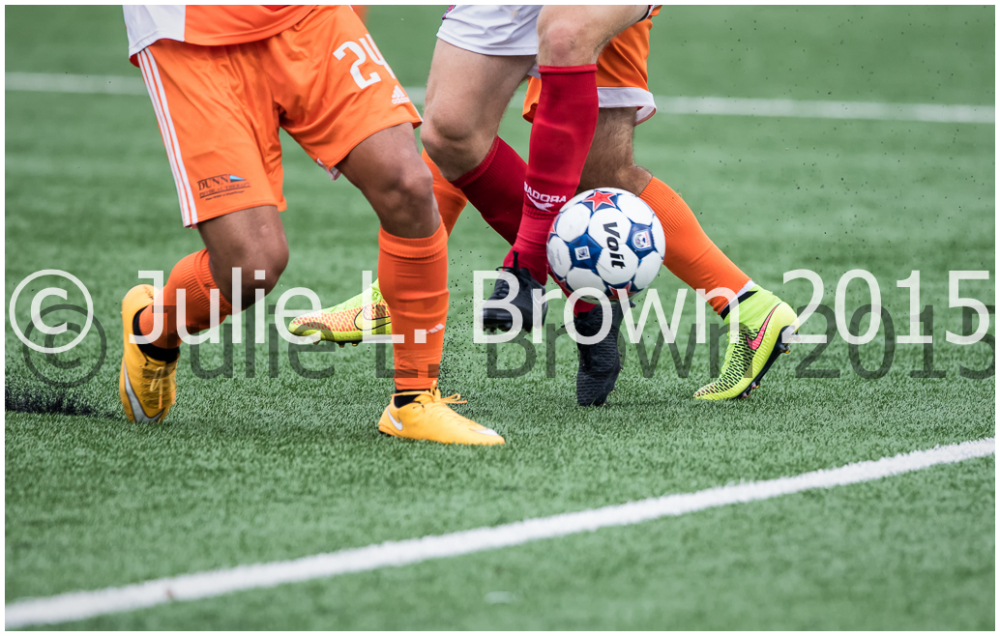 soccer ball in an Indy Eleven Soccer game 7-11-15