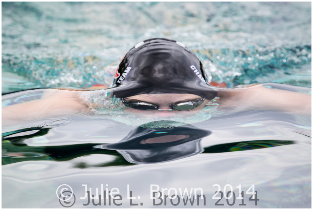 swimmer beneath the surface