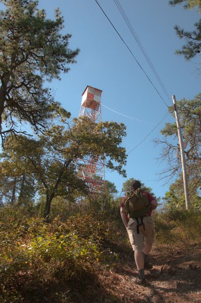to the fire tower