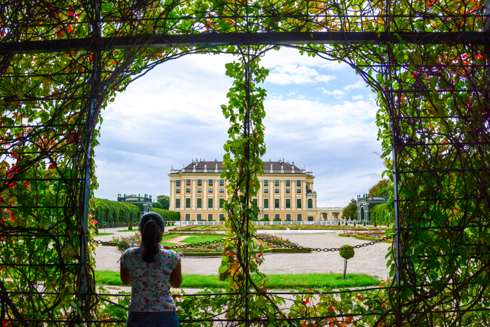 Beautiful gardens of Schönbrunn Palace