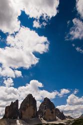 Tre Cime di Lavaredo view from Rif. A. Locatelli