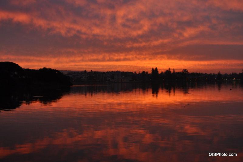 Sunrise at Lake Merritt, Oakland, ca