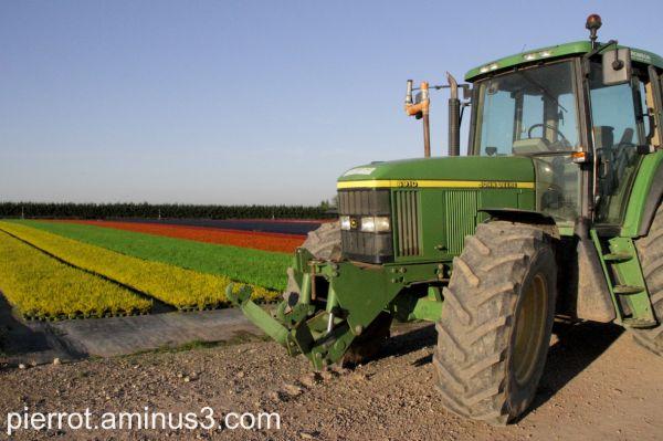 Le tracteur entre en action