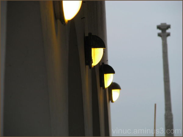 French Lamps @ French Cafe - Pondicherry