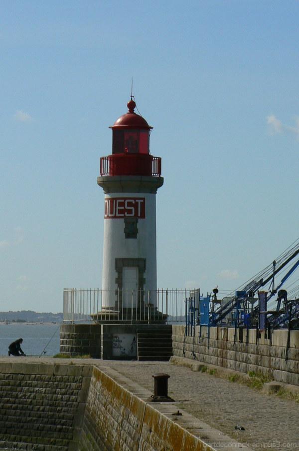 Lighthouse in St Nazaire,France