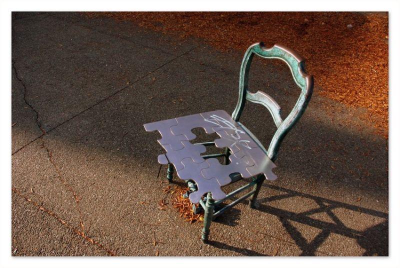 chaise en automne