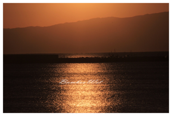 sunset beach in Chigasaki Japan