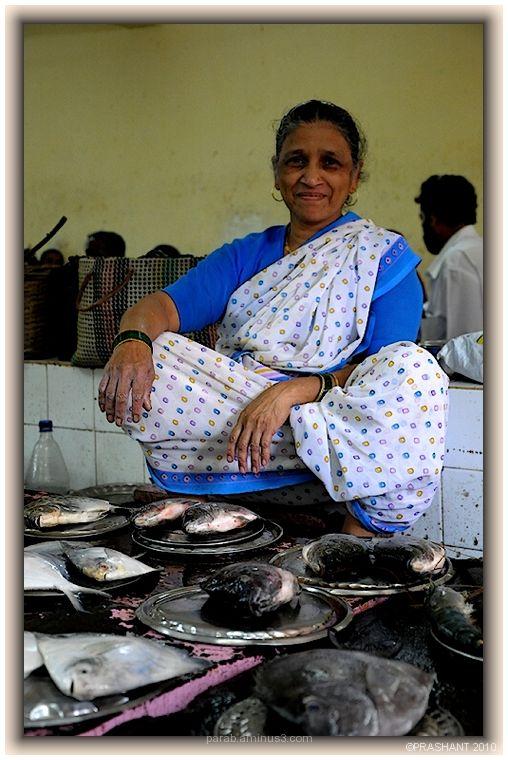 Women selling fish..