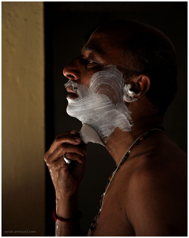 Shaving...