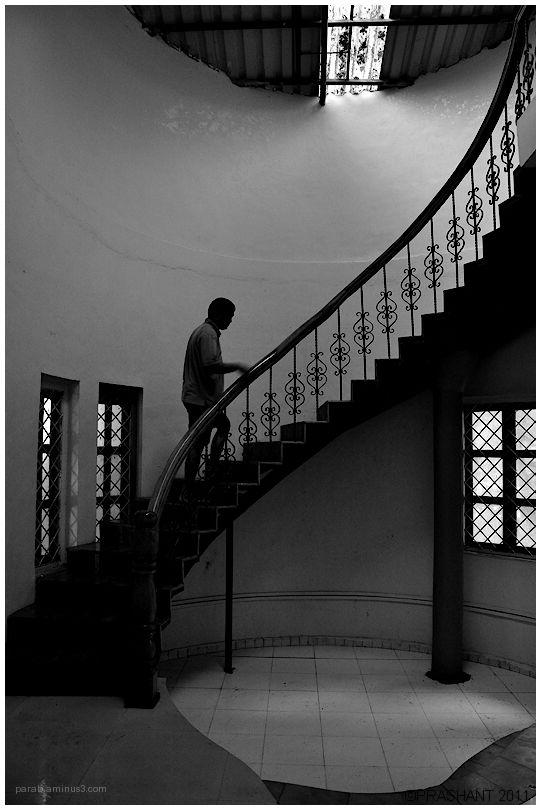 climbing stairs.....