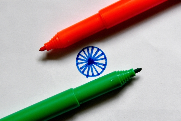 Colored salute to the Tricolour!