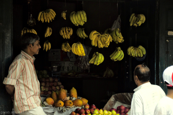 Fruit seller...