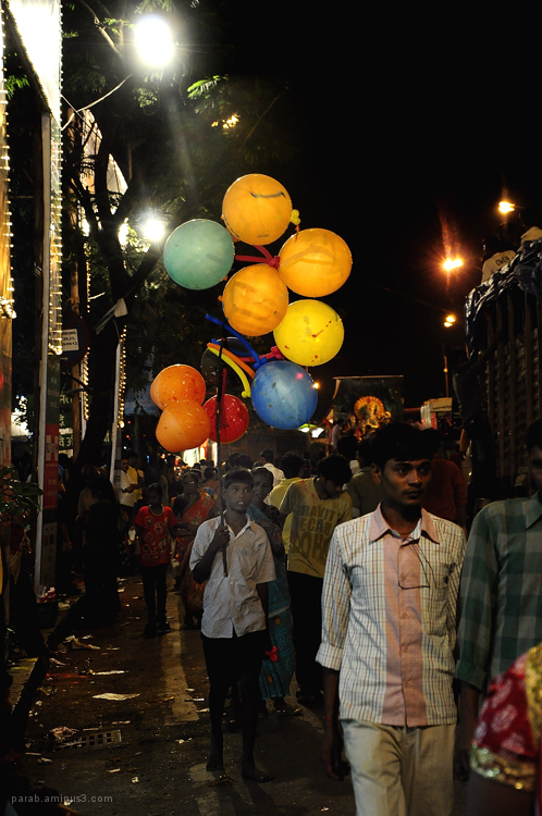 Balloon seller....
