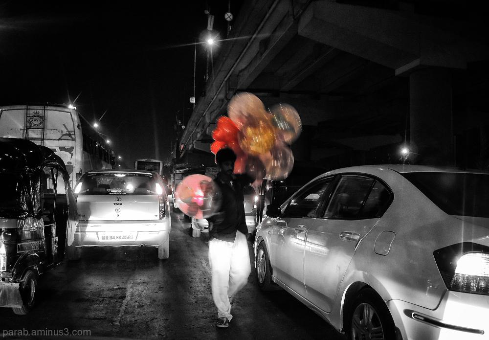 Balloon seller....