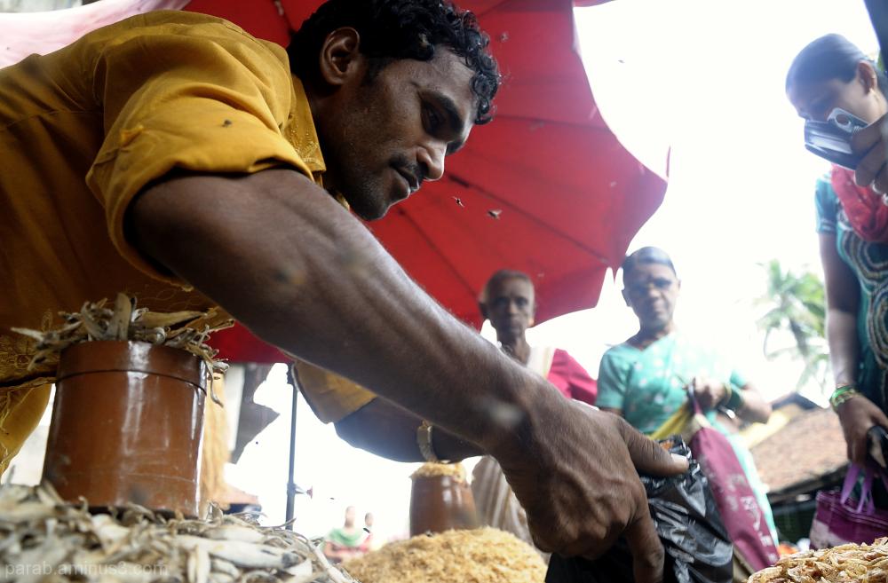 Dry Fish seller.