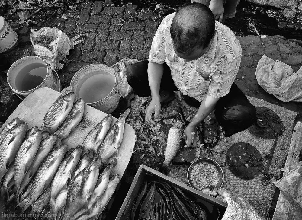 Fish seller..
