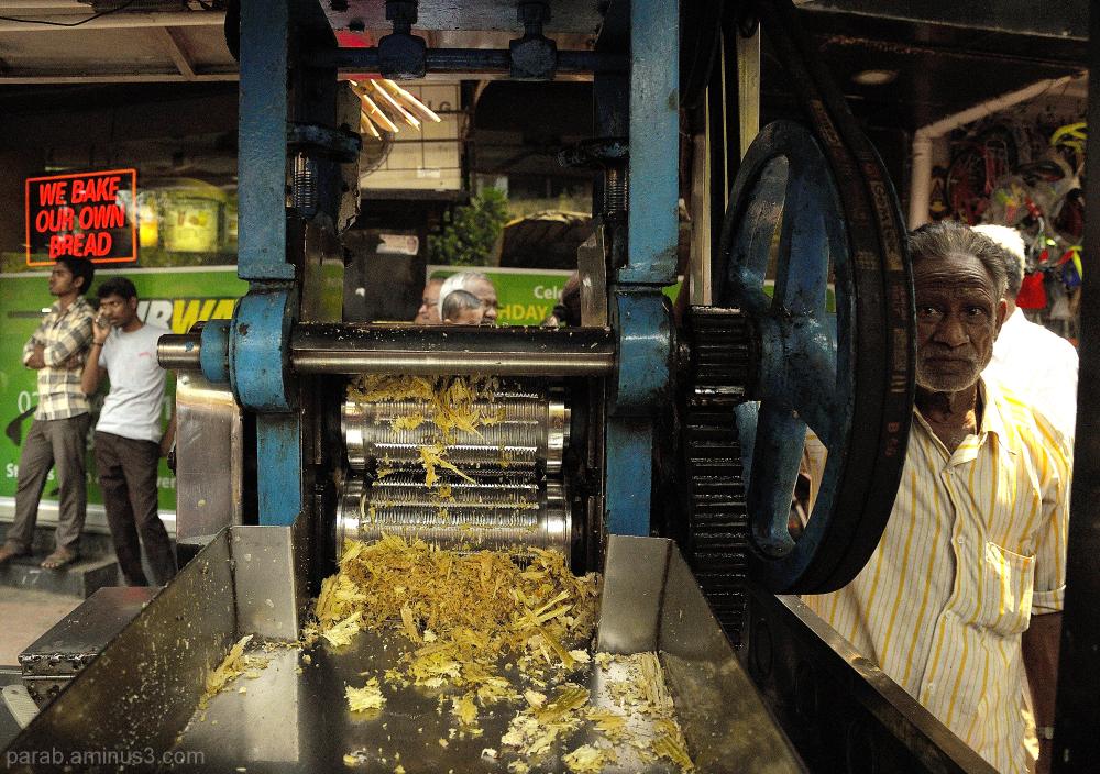 sugar-cane juice machine.