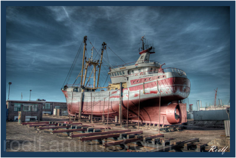 Dutch Trawler in slipway