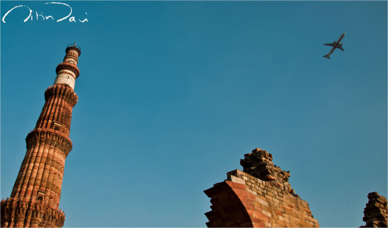Flying high over the Qutub