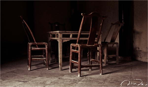 supper, dinner time, tables and chairs