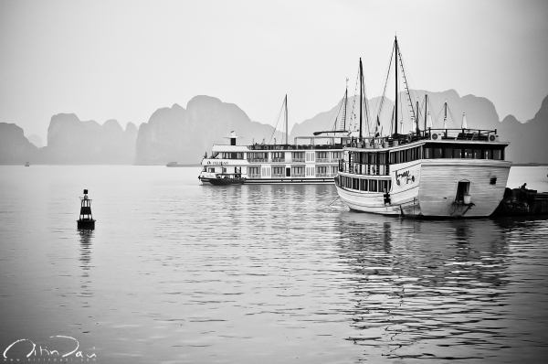 Docked in Halong Bay