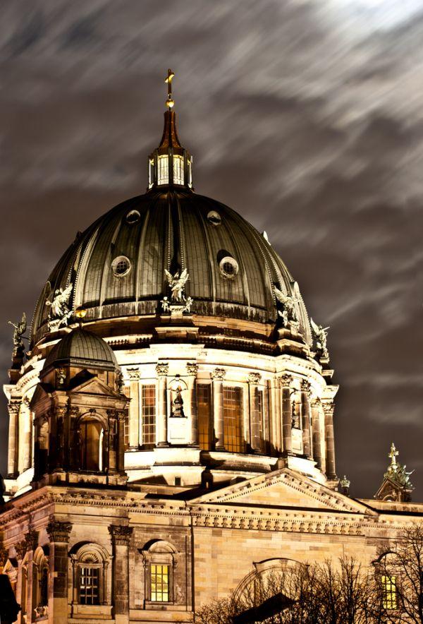 Berlin, Dom, night, lights