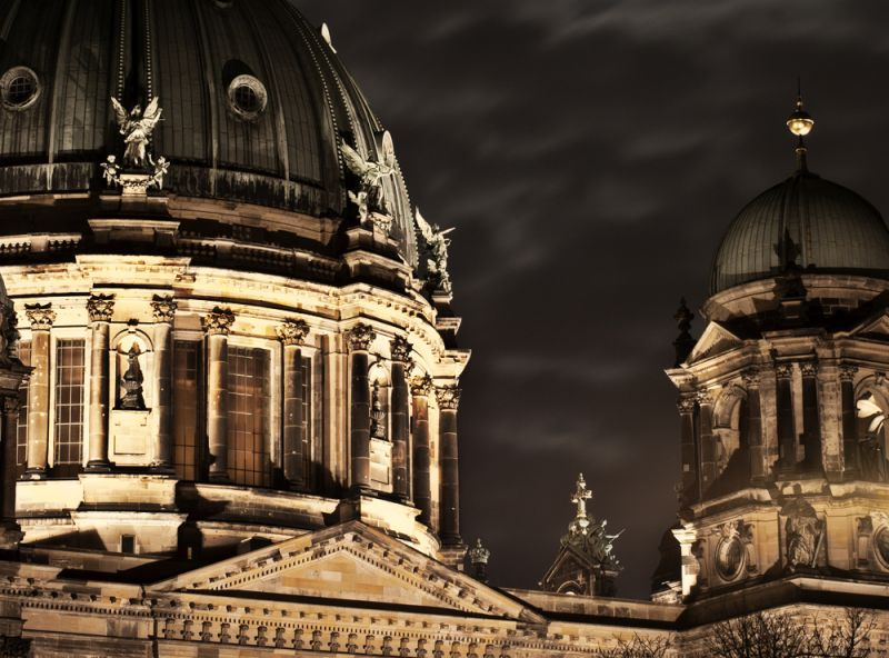 Berlin, Dom, night, lights