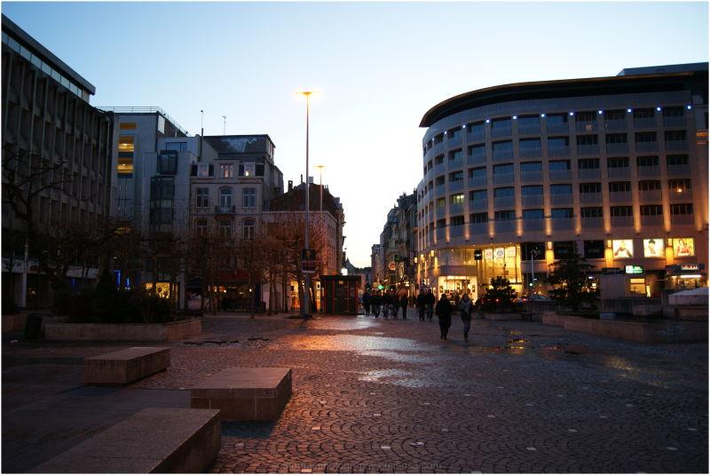 Shot of Brussels High Street
