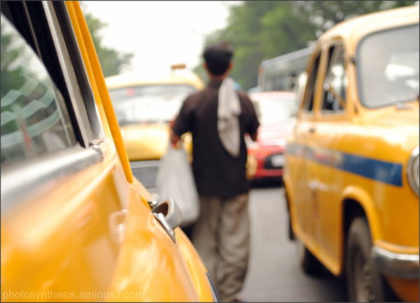Yellow Taxis in Kolkata