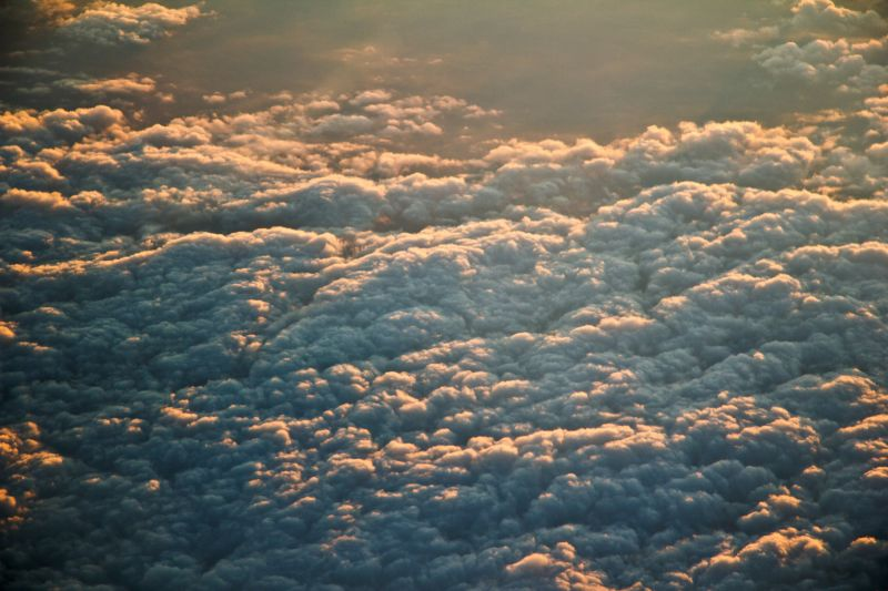 a cloud field from above