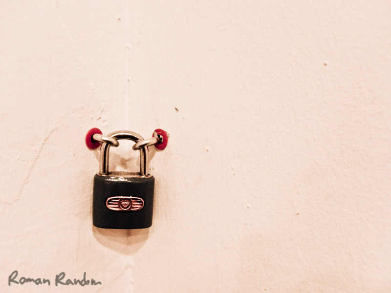 locked wall