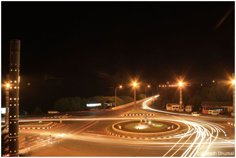 Panjim city circle at night
