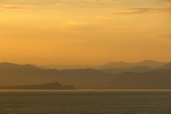 Sunset over lake Garda...