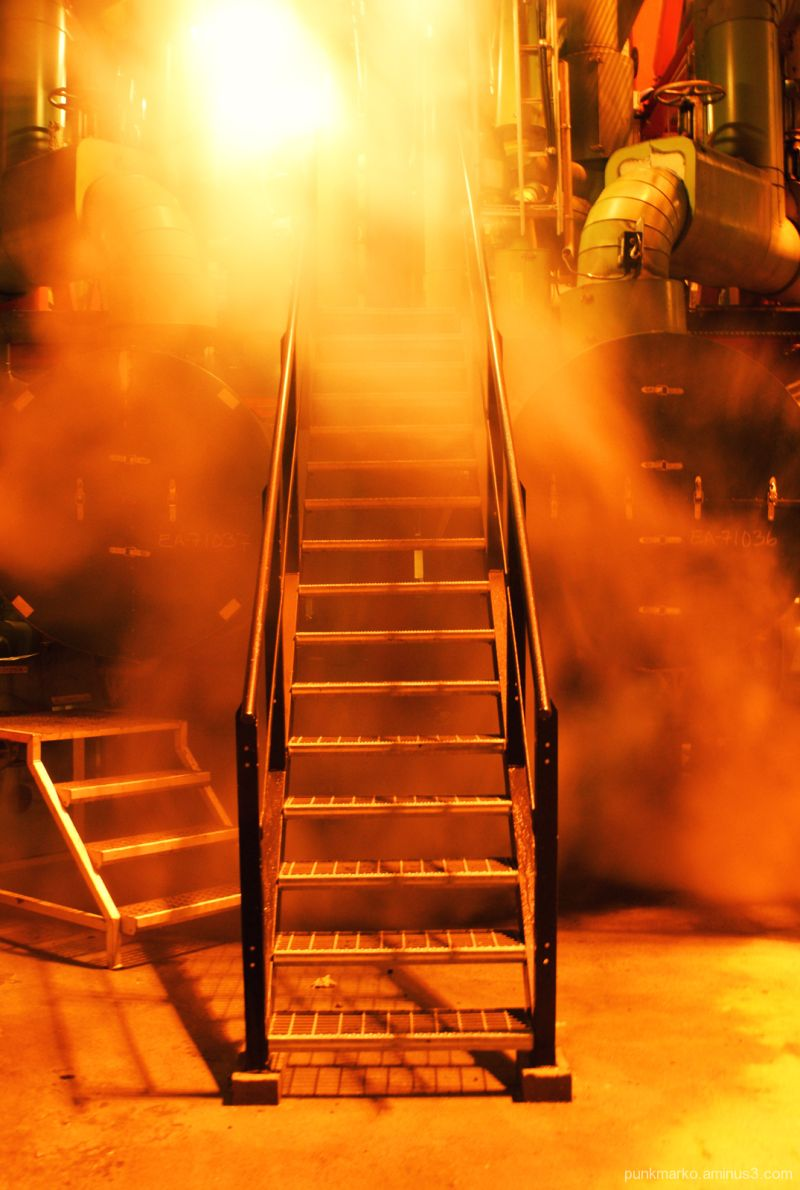 Stairs from refinery