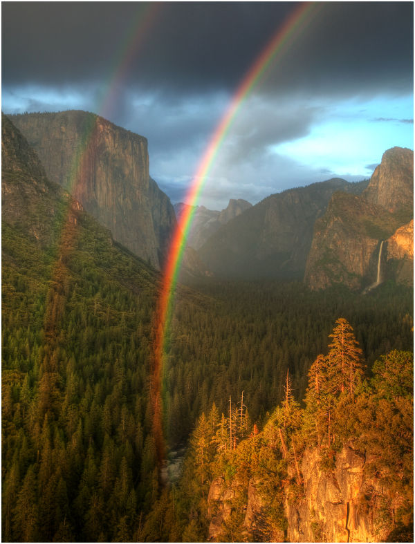 Double Rainbow - Tunnel View