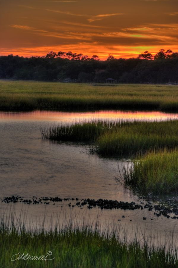 Pawley's Island Sunset, quote by Mother Teresa