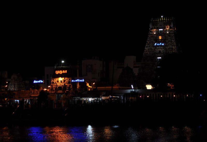 Kapaleeshwarar temple  by night....