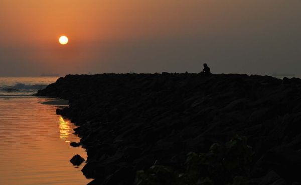 Alone at sunrise