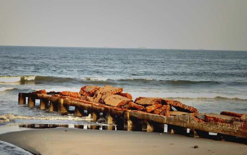 A broken jetty .....