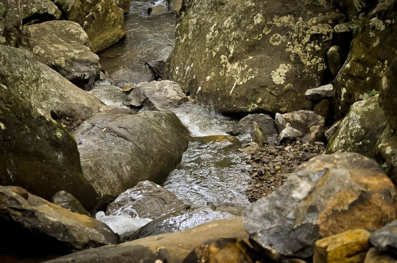 Rocks and a rivulet