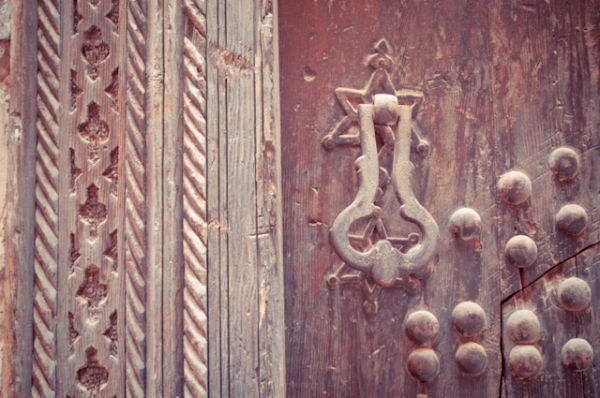 A door in Marrakech Medina